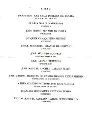 LISTA DE CANDIDATOS DA CDE-LISBOA PARA AS «ELEIÇÕES» DE 1969, PROMOVIDAS PELO PROF. MARCELO CAETANO