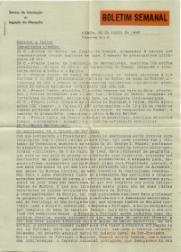 BOLETIM SEMANAL DO SERVIÇO DE INFORMAÇÃO DA LEGAÇÃO DA ALEMANHA