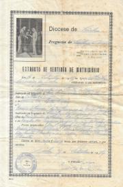 EXTRACTO DE CERTIDÃO DE MATRIMÓNIO