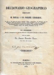 DICCIONARIO GEOGRAPHICO ABREVIADO DE PORTUGAL E SUAS POSSESSÕES ULTRAMARINAS,...