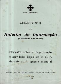 SUPLEMENTO Nº18 AO BOLETIM DE INFORMAÇÃO (ACTIVIDADES COMUNISTAS)