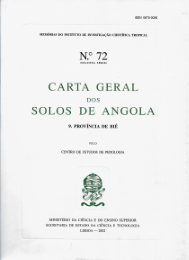 CARTA GERAL DOS SOLOS DE ANGOLA - PROVÍNCIA DE BIÉ
