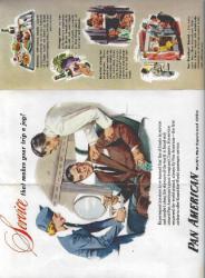 FOLHETO PUBLICITÁRIO DA «PAN AMERICAN AIRWAYS»