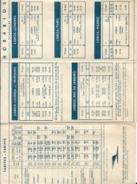 TAP-TRANSPORTES AÉREOS PORTUGUESES-HORÁRIOS/TIMETABLES