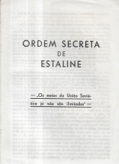ORDEM SECRETA DE ESTALINE