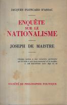 ENQUÊTE SUR LE NATIONALISME - JOSEPH MAISTRE