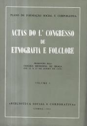 ACTAS DO 1º CONGRESSO DE ETNOGRAFIA E FOLCLORE