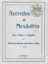 AZEREDOS DE MESÃOFRIO-SEUS RAMOS E LIGAÇÕES