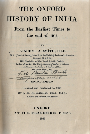 THE OXFORD HISTORY OF INDIA FROM THE EARLIEST TIMES TO THE END OF 1911