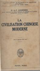 LA CIVILISATION CHINOISE MODERNE