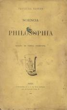 SCIENCIA E PHILOSOPHIA-ENSAIOS DE CRÍTICA POSITIVISTA