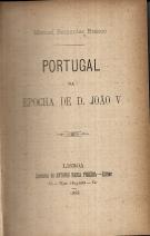 PORTUGAL NA EPOCHA DE D. JOÃO V
