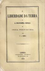 A LIBERDADE DA TERRA E A ECONOMIA RURAL ÍNDIA PORTUGUEZA