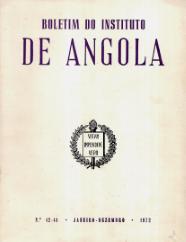 BOLETIM DO INSTITUTO DE ANGOLA